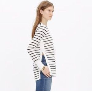 Madewell Striped Side-slit Sweater